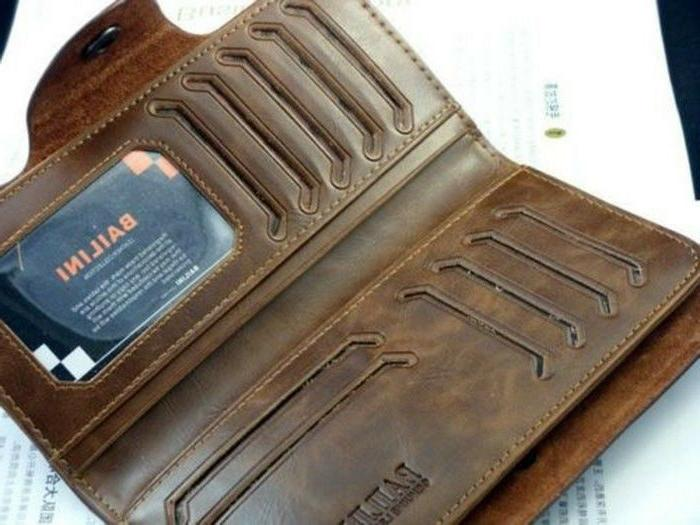 Fashion Men's Leather Long Wallet Clutch