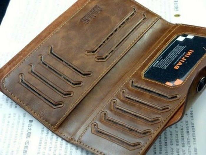 Fashion Men's Leather Wallet Pockets Card Clutch Cente