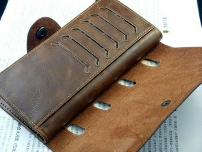 Fashion Leather Wallet Pockets ID Clutch