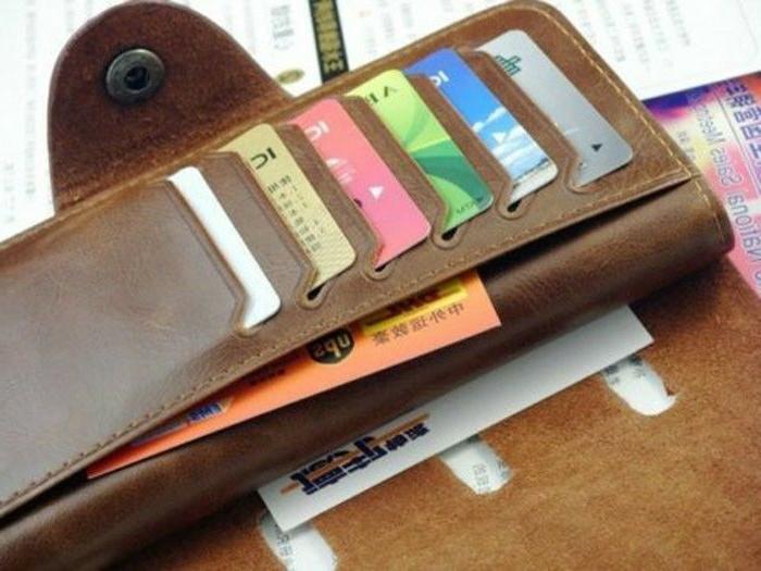 Fashion Leather Wallet Pockets Card Clutch Bifold Purse