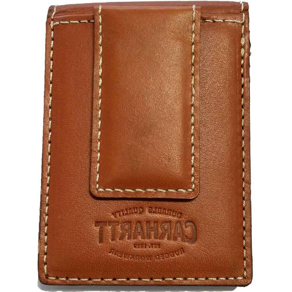 Carhartt Magnetic money Leather Wallet Pocket Wallet 61-CH2333