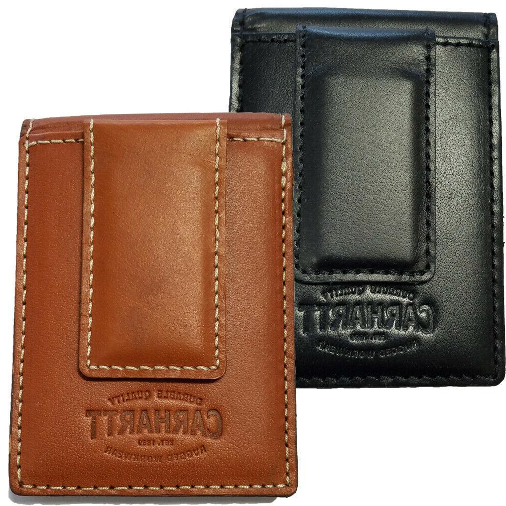 magnetic money clip leather wallet men s