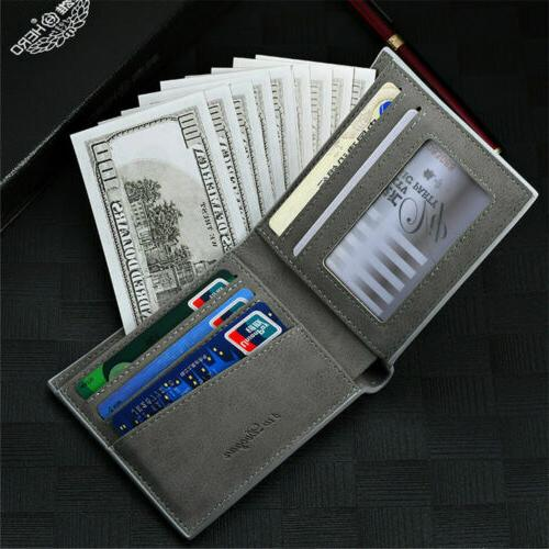 Men Id Card Holder Billfold Handbag Slim