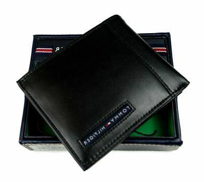 Tommy Hilfiger Men's Leather Credit Card Wallet Billfold Bla