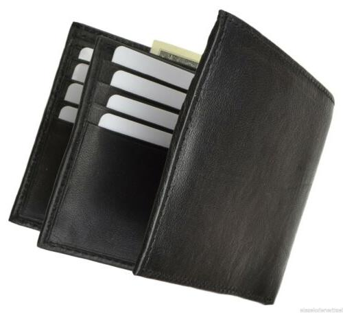 Men's Leather Wallet Multi Card Compact Bifold New Marshal®