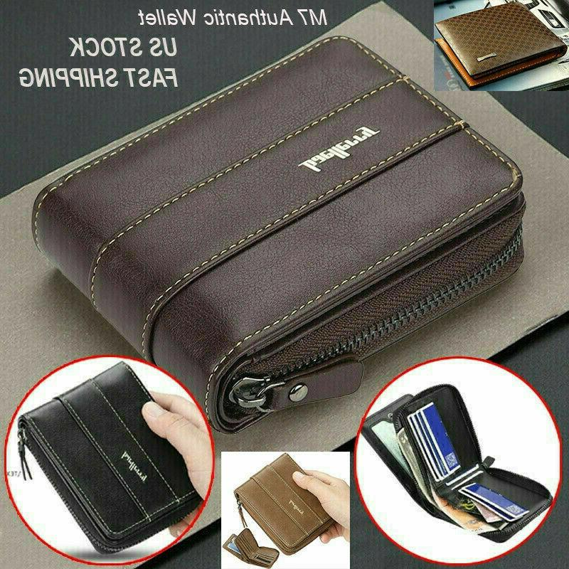 men men s leather wallet id credit