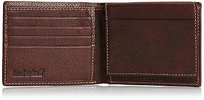 Timberland Passcase Wallet Pebble Grain Leather ID Bifold