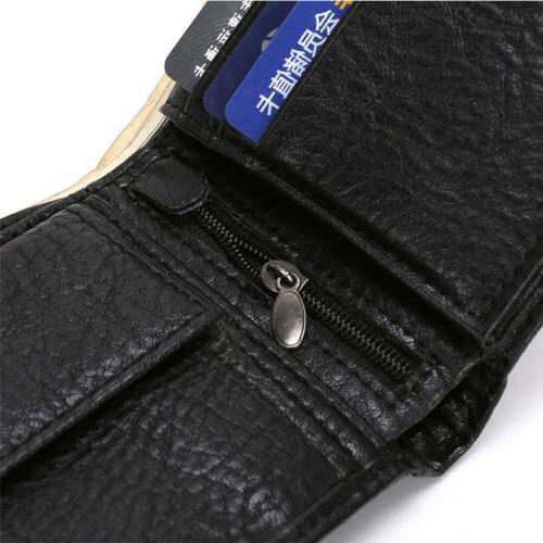 Men's Bifold ID Card Wallet Coin
