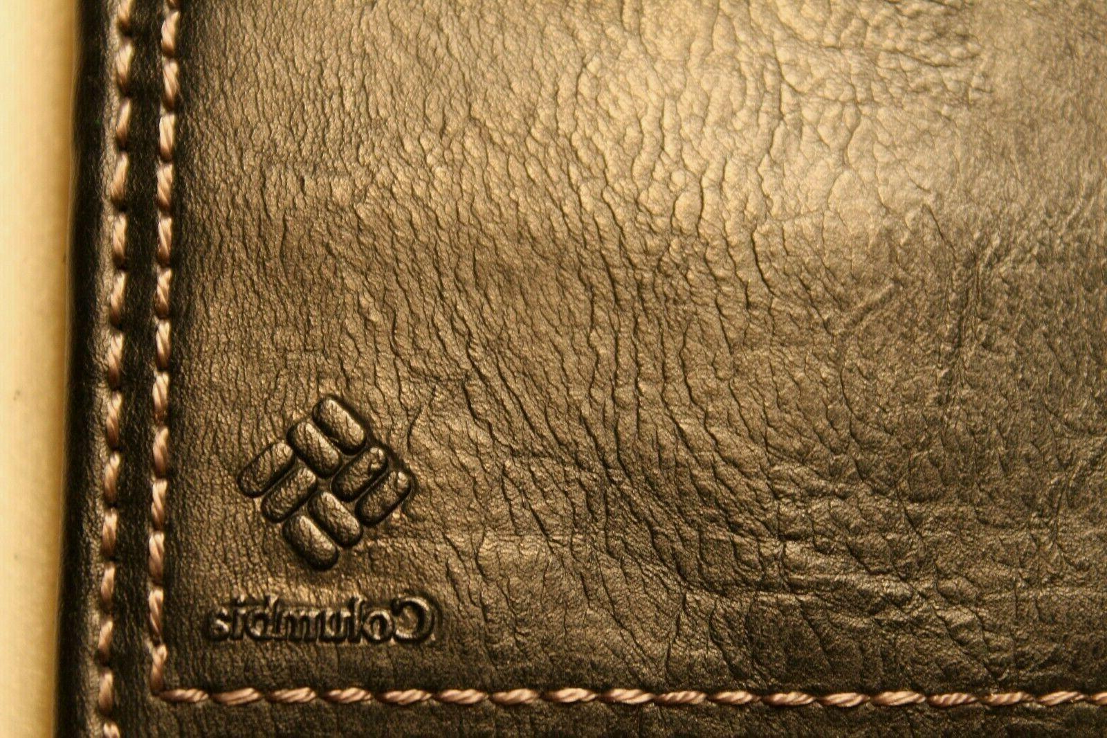 Columbia Bifold Wallet 100% Genuine Black NWOT