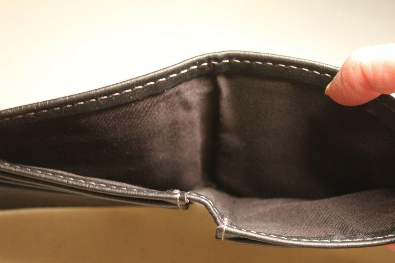 Columbia Bifold Wallet 100% Genuine Cowhide Black