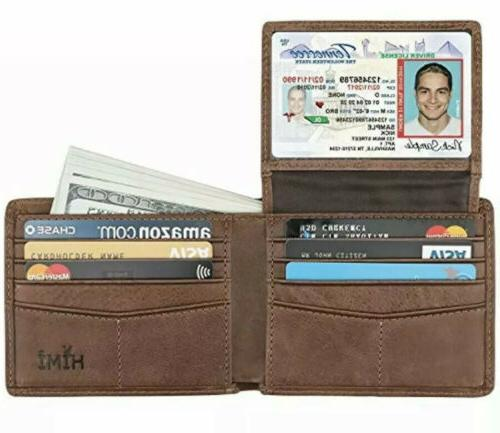 men s bifold wallet leather stylish rfid