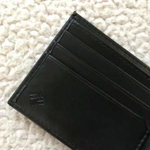 Columbia Leather RFID Passcase Wallet
