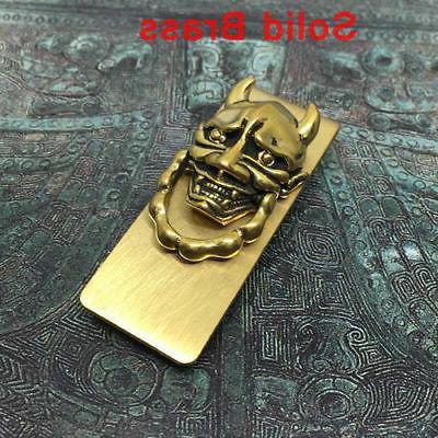 men s brass prajna money clip holder