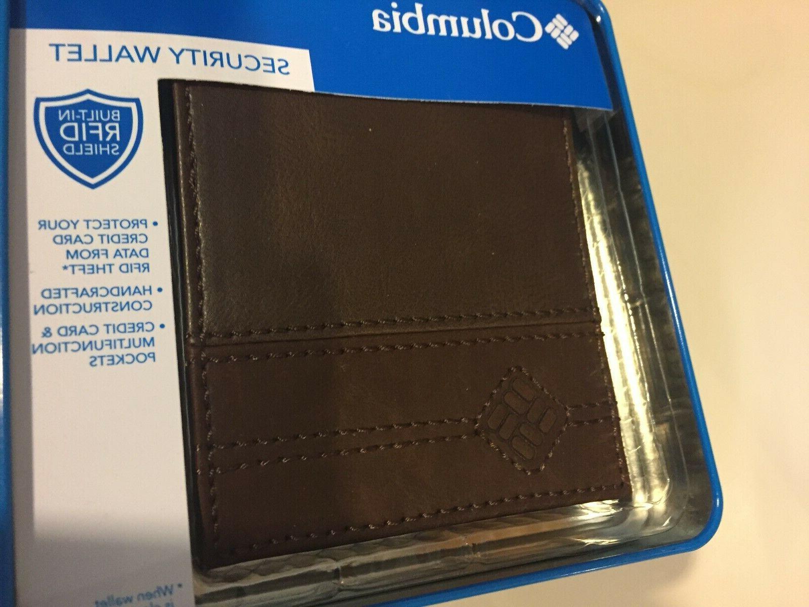 men s leather bi fold rfid security