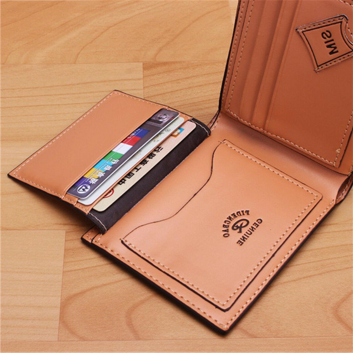Men's Leather Bifold Billfold Slim Clutch