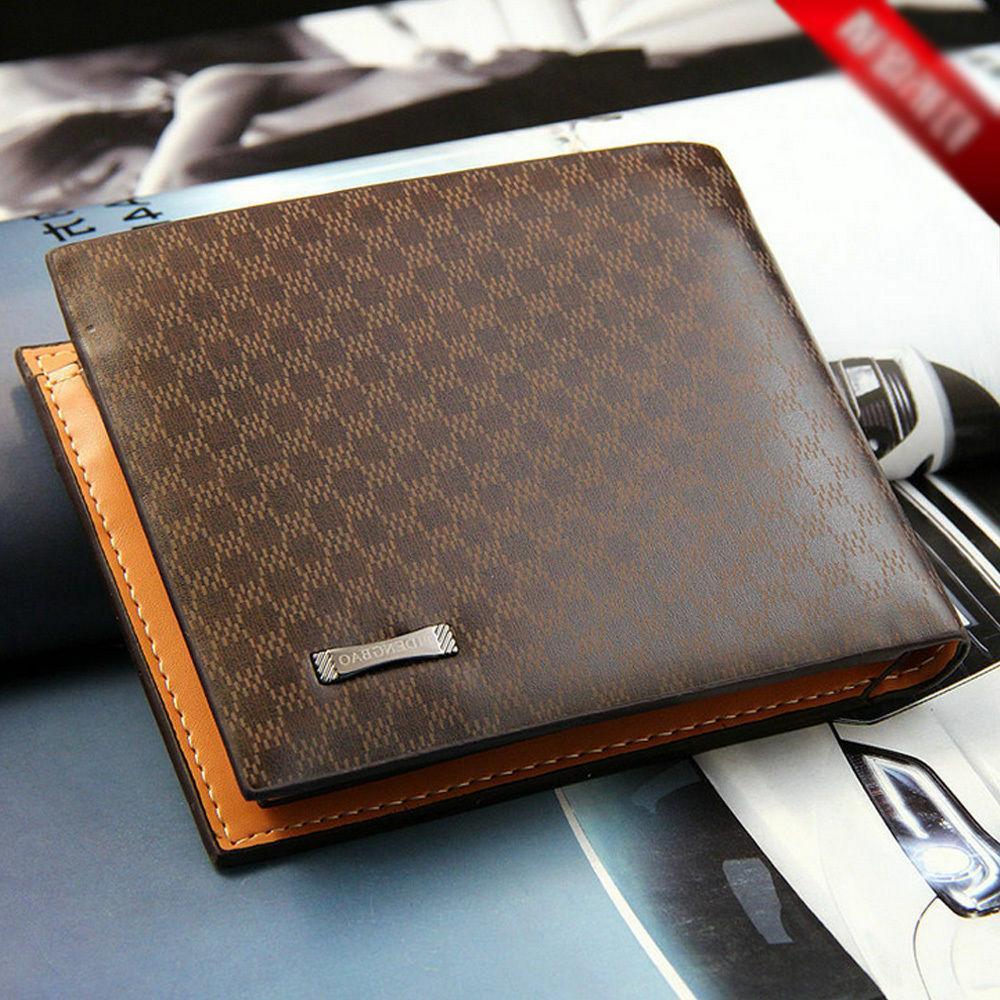 Men's Card Purse Billfold Handbag Slim