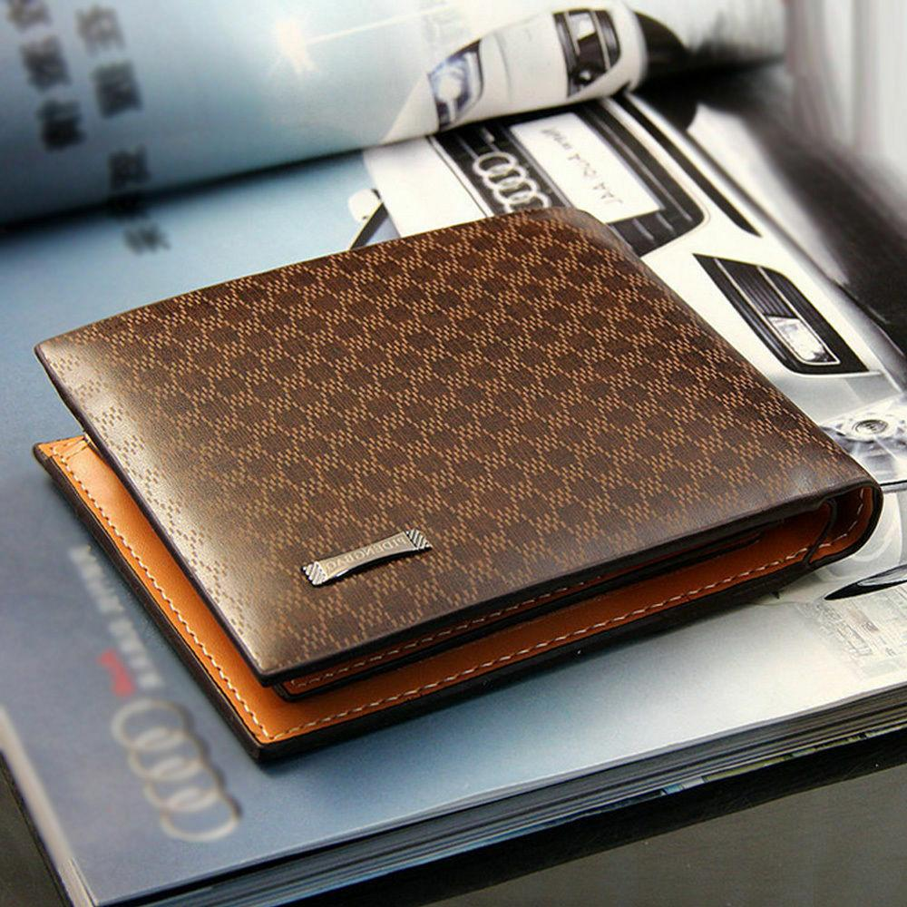 men s leather bifold id card holder