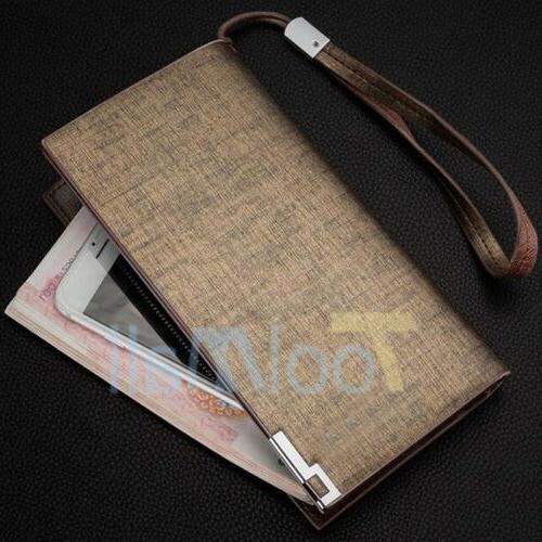 Men's Card Holder Wallet Purse Checkbook Billfold