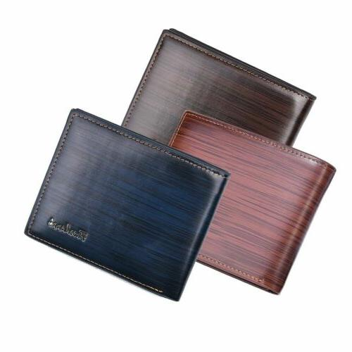 Men's Pockets ID Credit Card Holder Clutch US Ship
