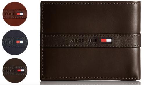 men s premium leather credit card id