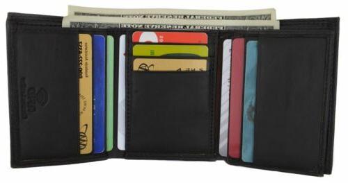Swiss Marshall Men's RFID Blocking Classic Trifold Wallet