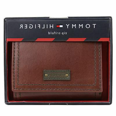 Tommy Trifold Zipper Coin Credit Card ID Wallet 31TL110021