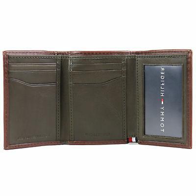 Tommy Men's Trifold Zipper ID Wallet