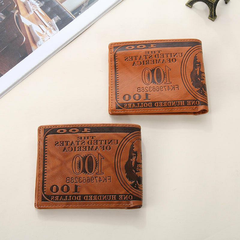 Men Dollar Wallet Leather Credit Card Holder Bifold Billfold