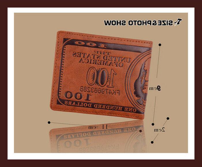 Men US Wallet PU Leather Credit Card Bifold Billfold