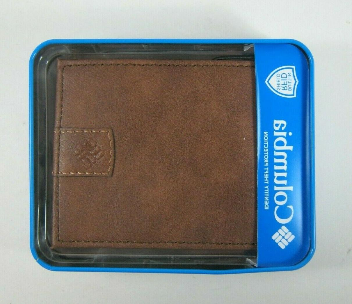 Columbia Mens Bifold Leather RFID Security Wallet 31CP130005