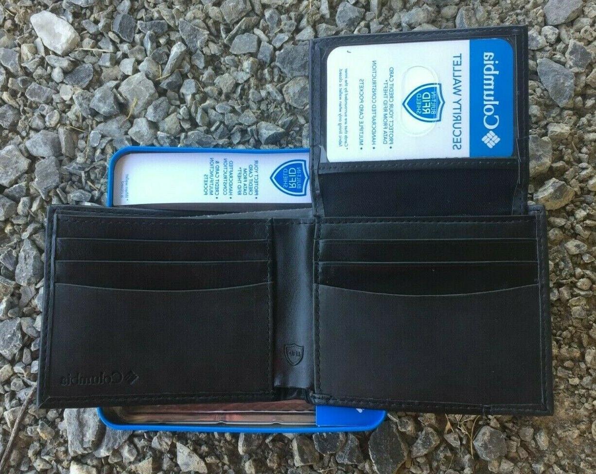 Columbia Mens Security Wallet RFID Black NIB