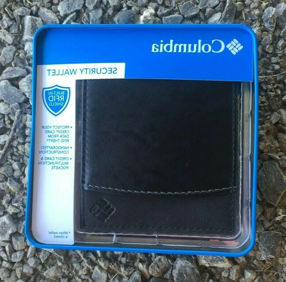 mens bifold leather security wallet rfid passcase