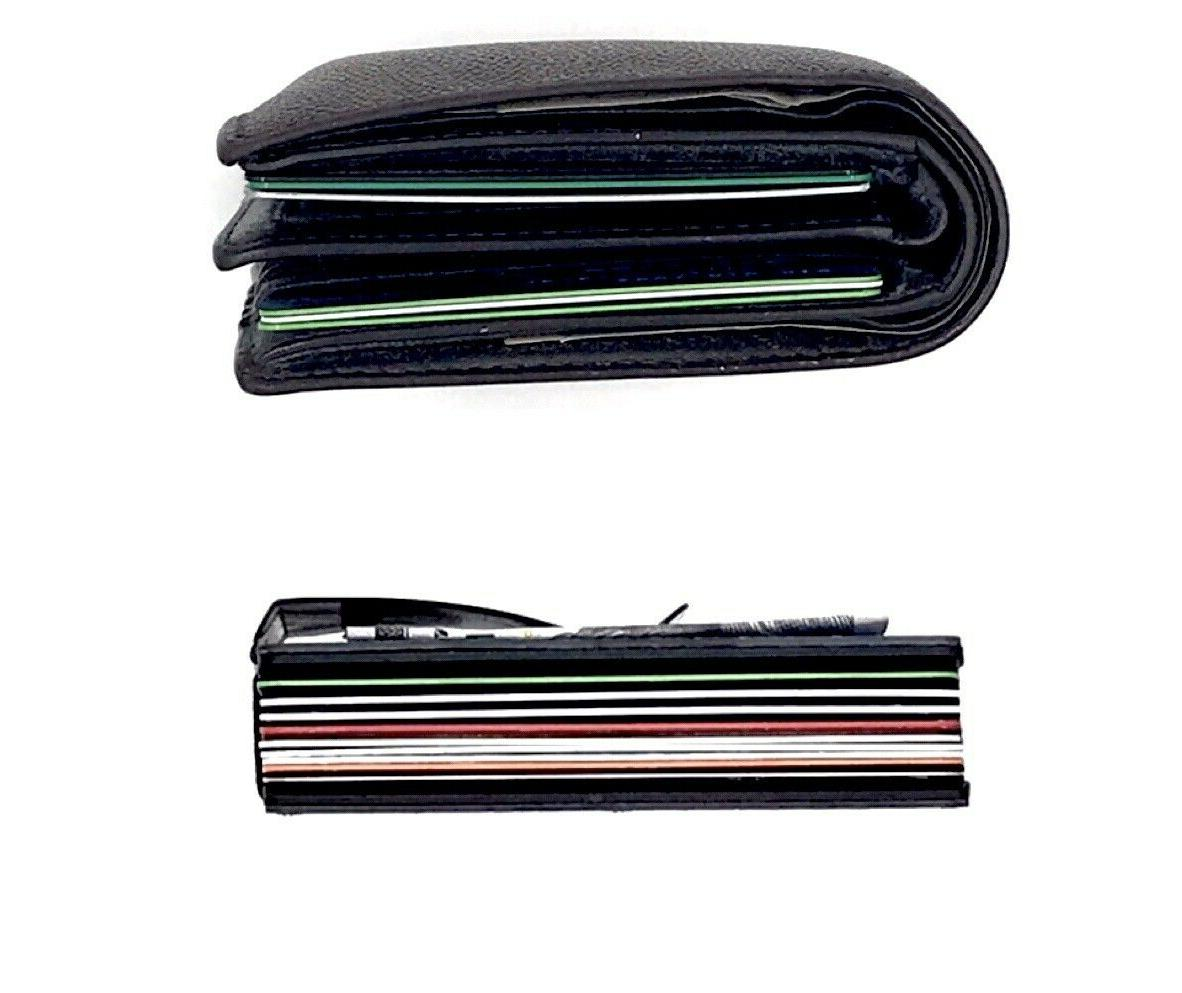 Mens RFID Blocking Money Clip Carbon Wallet ID Credit Card Holder