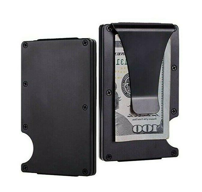 Mens Money Carbon Fiber Wallet Credit Card Holder