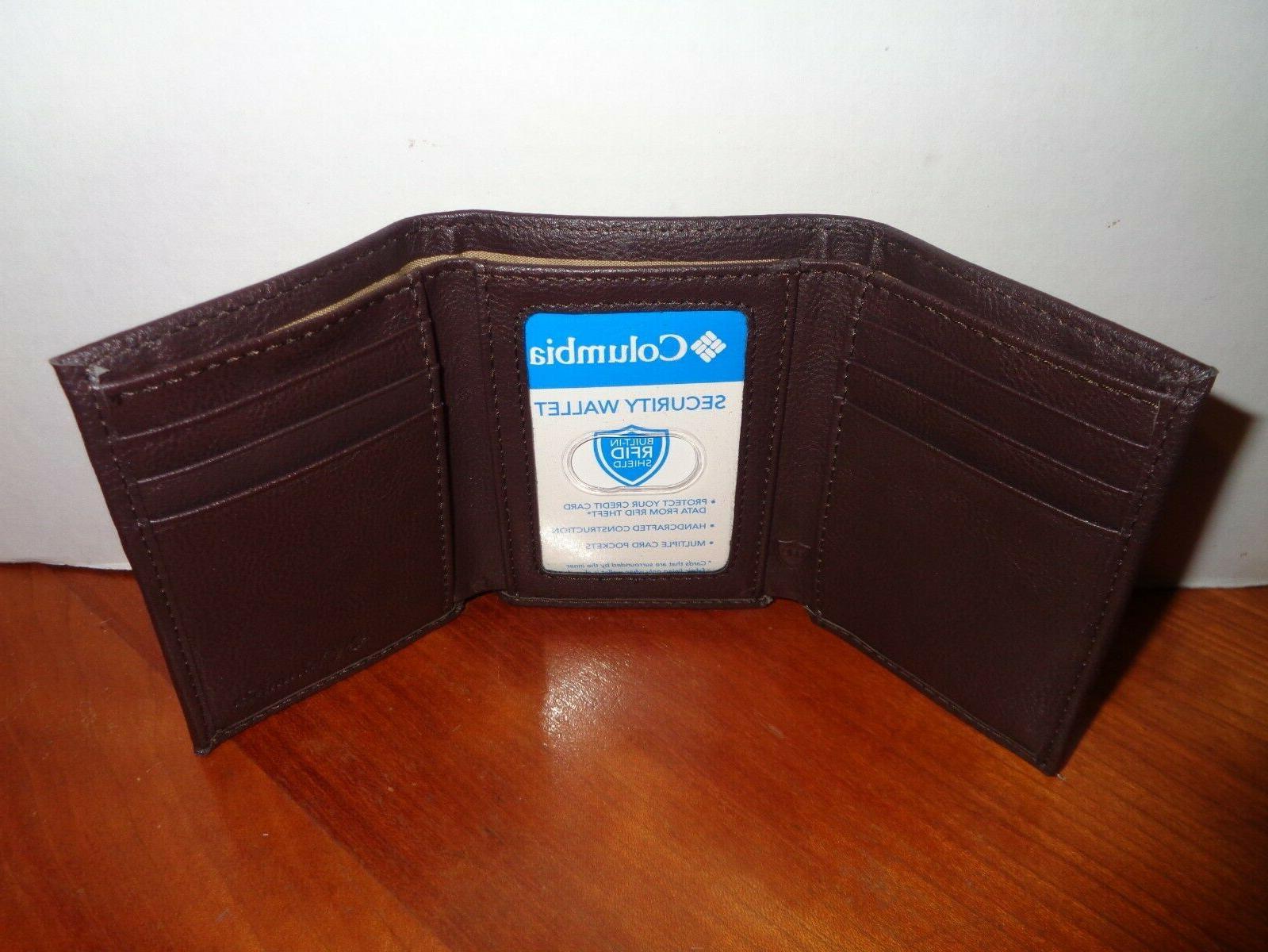 COLUMBIA Mens RFID Security Brown Tin