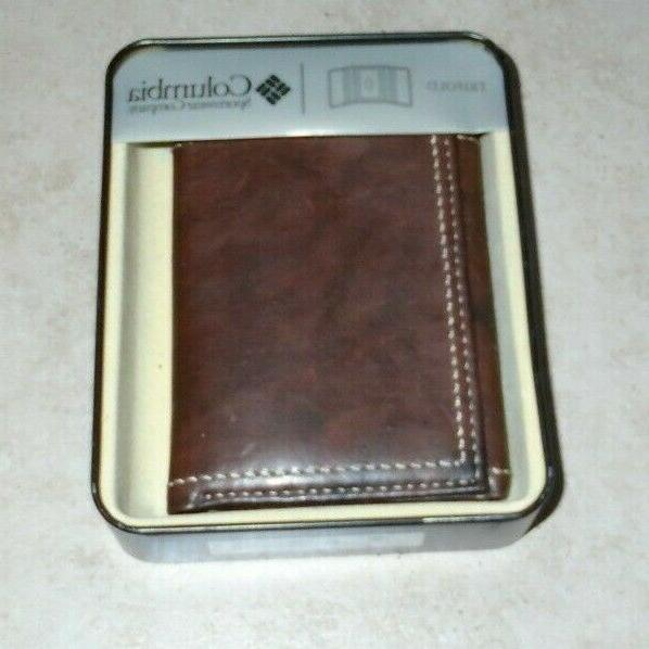 New Leather Brown Wallet Retail $24.99