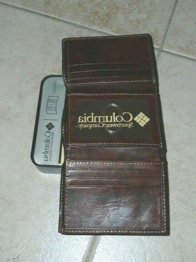 Columbia Trifold Brand New Leather Retail $24.99