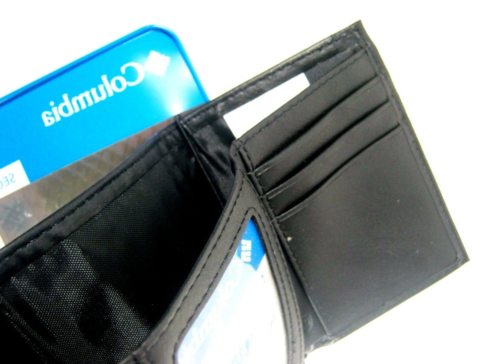 Columbia Security RFID Blocking Leather Wallet Black