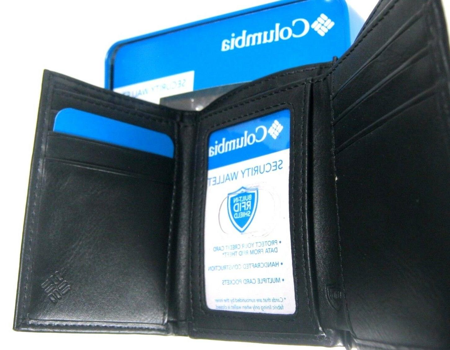 Columbia RFID Blocking Leather Wallet Black 31CP110005