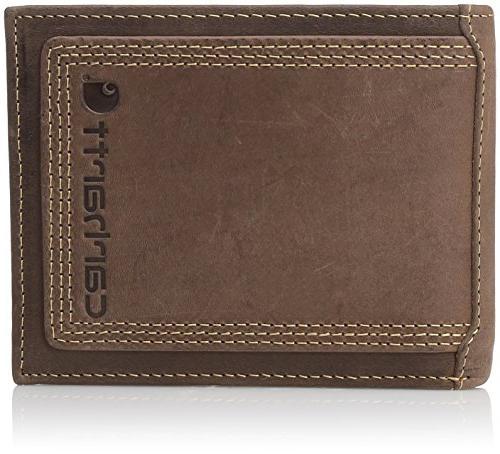 mens wallet grain leather passcase