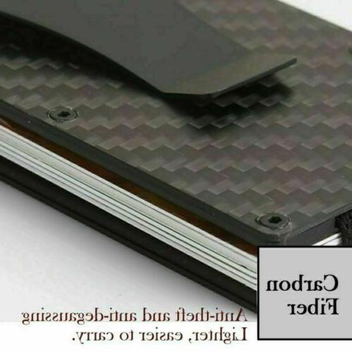 Metal Minimalist Card Holder Clip RFID Wallet