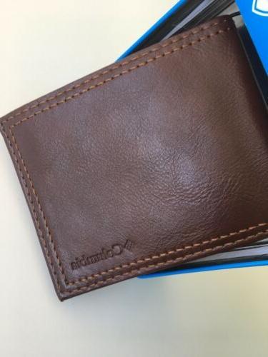 New Columbia Designer All Bi Fold Wallet RFID