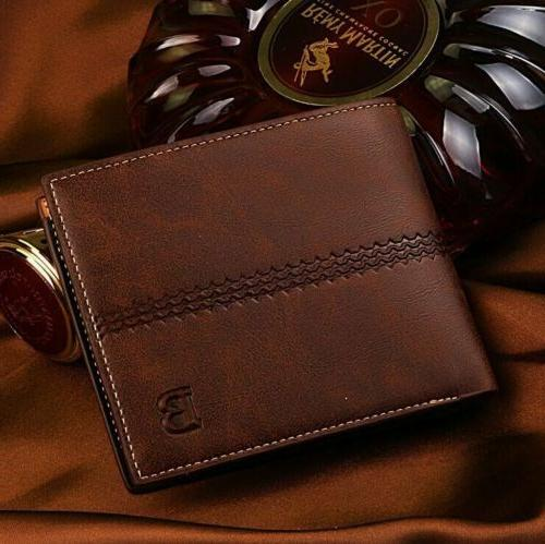 New Men's Leather Wallet Billfold
