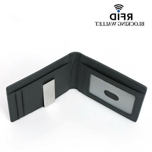 Real Leather For with Clip RFID Blocking