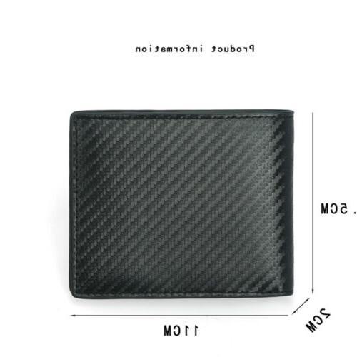 RFID Blocking Carbon Fiber Bifold Card ID Holder Wallet US