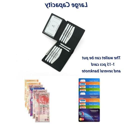 RFID Carbon Fiber Card Holder Wallet US