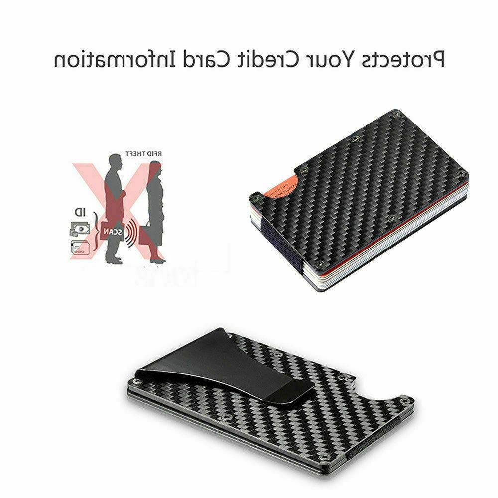 RFID Blocking Slim Clip Credit Holder Wallet
