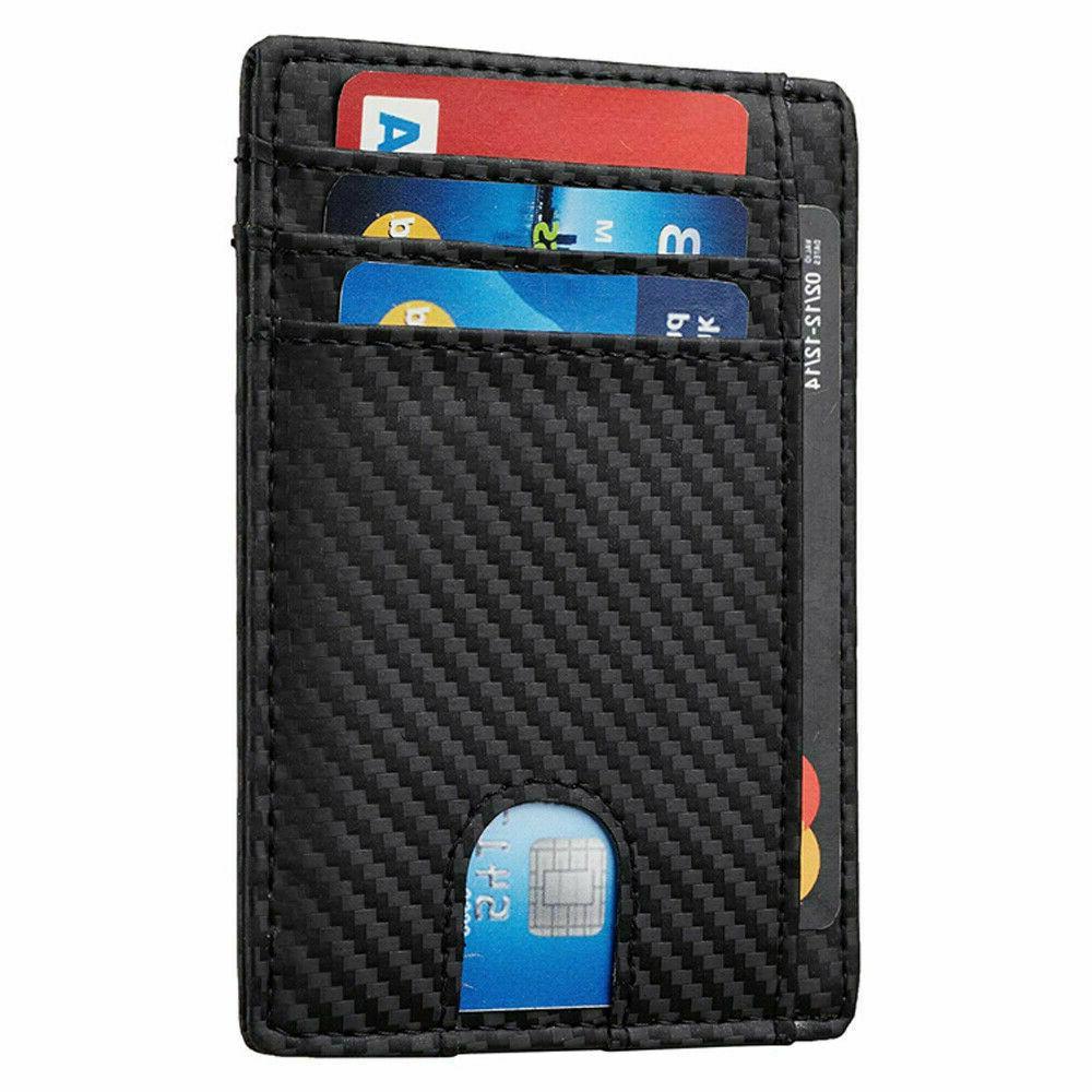Slim RFID Carbon Fiber Wallets for Mens Wallet