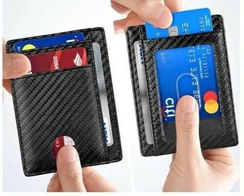 Slim Front Pocket RFID Blocking Wallets