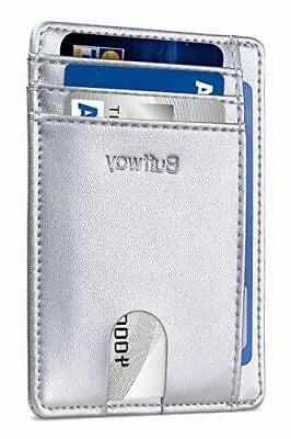 slim minimalist front pocket rfid blocking leather